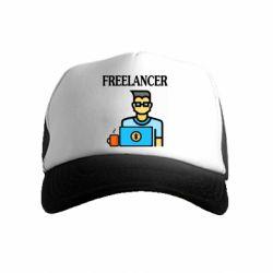 Детская кепка-тракер Freelancer text