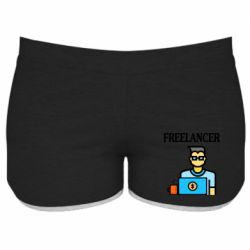 Женские шорты Freelancer text