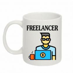 Кружка 320ml Freelancer text