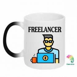 Кружка-хамелеон Freelancer text