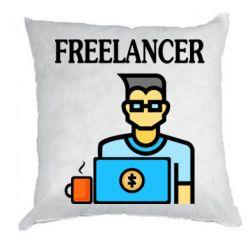 Подушка Freelancer text