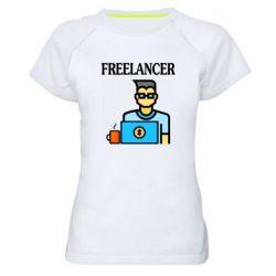 Женская спортивная футболка Freelancer text
