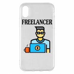 Чехол для iPhone X/Xs Freelancer text