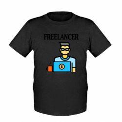 Детская футболка Freelancer text