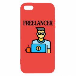 Чехол для iPhone5/5S/SE Freelancer text