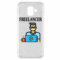Чехол для Samsung A6 2018 Freelancer text