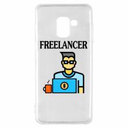 Чехол для Samsung A8 2018 Freelancer text