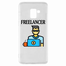 Чехол для Samsung A8+ 2018 Freelancer text