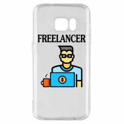Чехол для Samsung S7 Freelancer text
