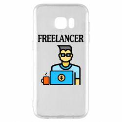 Чехол для Samsung S7 EDGE Freelancer text