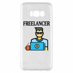 Чехол для Samsung S8 Freelancer text
