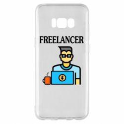 Чехол для Samsung S8+ Freelancer text