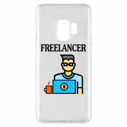 Чехол для Samsung S9 Freelancer text