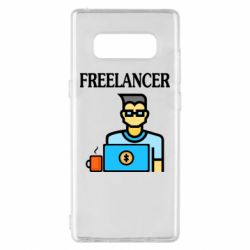 Чехол для Samsung Note 8 Freelancer text