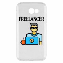 Чехол для Samsung A7 2017 Freelancer text
