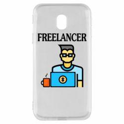 Чехол для Samsung J3 2017 Freelancer text