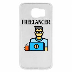 Чехол для Samsung S6 Freelancer text