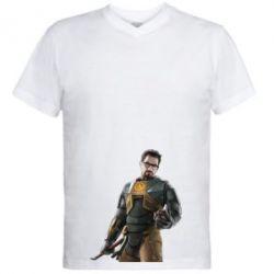 Мужская футболка  с V-образным вырезом Freeman - FatLine