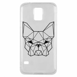 Чехол для Samsung S5 French Bulldog Art