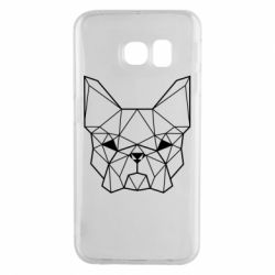 Чехол для Samsung S6 EDGE French Bulldog Art