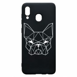 Чехол для Samsung A20 French Bulldog Art