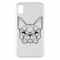 Чехол для iPhone X/Xs French Bulldog Art