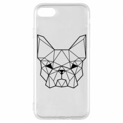 Чехол для iPhone 7 French Bulldog Art