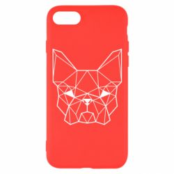Чехол для iPhone 8 French Bulldog Art