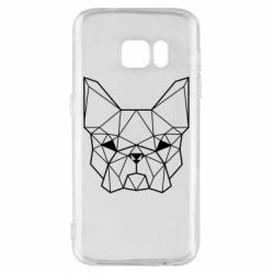 Чехол для Samsung S7 French Bulldog Art