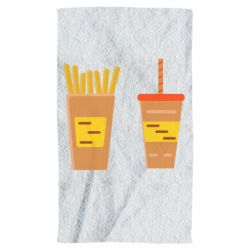 Полотенце French fries and cocktail flat vector