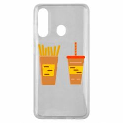 Чехол для Samsung M40 French fries and cocktail flat vector