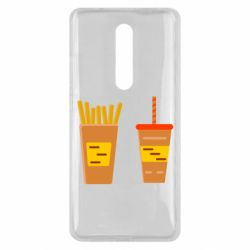 Чехол для Xiaomi Mi9T French fries and cocktail flat vector