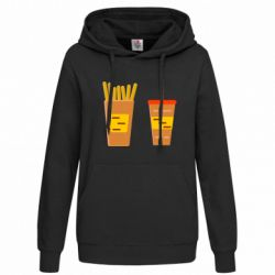 Женская толстовка French fries and cocktail flat vector
