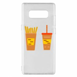 Чехол для Samsung Note 8 French fries and cocktail flat vector