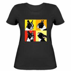 Женская футболка Френчи - FatLine