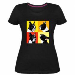 Женская стрейчевая футболка Френчи - FatLine