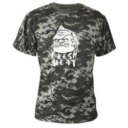 Камуфляжная футболка Fresh Meat Pudge - FatLine
