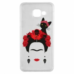 Чохол для Samsung A3 2016 Frida Kalo and cat