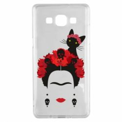 Чохол для Samsung A5 2015 Frida Kalo and cat