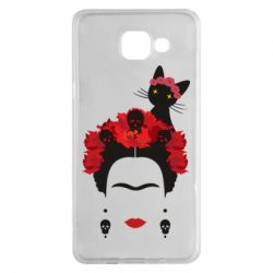 Чохол для Samsung A5 2016 Frida Kalo and cat