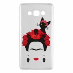 Чохол для Samsung A7 2015 Frida Kalo and cat