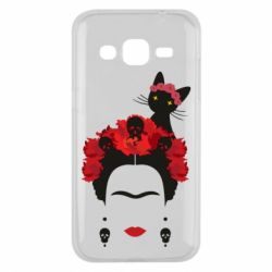 Чохол для Samsung J2 2015 Frida Kalo and cat