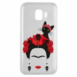 Чохол для Samsung J2 2018 Frida Kalo and cat
