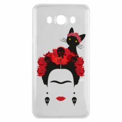 Чохол для Samsung J7 2016 Frida Kalo and cat