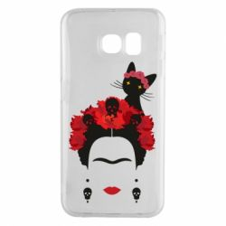 Чохол для Samsung S6 EDGE Frida Kalo and cat