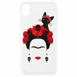 Чохол для iPhone XR Frida Kalo and cat