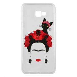 Чохол для Samsung J4 Plus 2018 Frida Kalo and cat