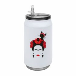 Термобанка 350ml Frida Kalo and cat