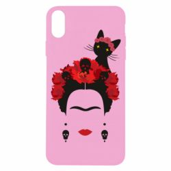 Чохол для iPhone X/Xs Frida Kalo and cat