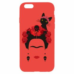 Чохол для iPhone 6/6S Frida Kalo and cat